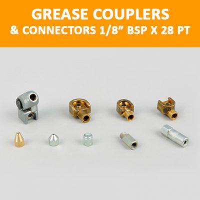 "Grease Couplers & Connectors 1/8"" BSP x 28 pt"