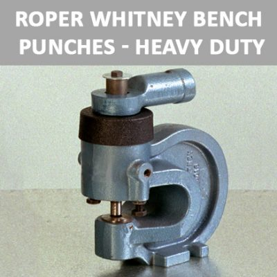 Roper Whitney Bench Punches - Heavy Duty