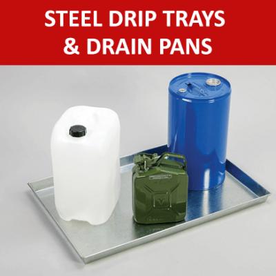 Steel Drip Trays & Drain Pans